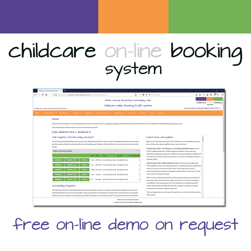 Childcare on-line Booking (CoB)