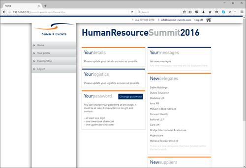 participant user interface