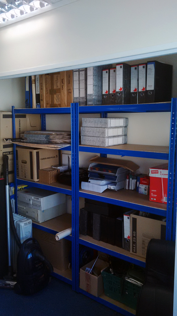 storage area in new offices in wiltshire