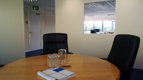meeting room in new offices in wiltshire