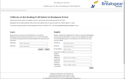 after schools booking system